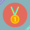 1. Platz Gold Medal Icon -