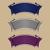 Blau, grau und lila Band-Set