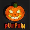 Schwarz Halloween s mit Kürbis-