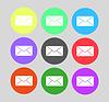 Envelope Symbol E-Mail. Flache Design-Stil