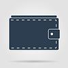 Geldbörse mit Bargeld einfachen Symbol.