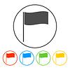 Flag icon. Ort Markersymbol. Flache Design-Stil