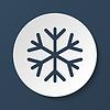 Schneeflocke flach icon