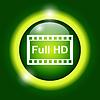 High-Definition-Design über grünem Hintergrund