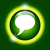 Chat flach icon