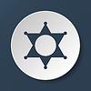 Sheriff Stern. Flach Web-Symbol oder Zeichen