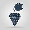 Векторный клипарт: Виноград значок