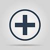 Векторный клипарт: Медицинские знак в глянцевый кнопка