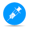 Векторный клипарт: Медицинский шприц. Значок Illustrator EPS 10