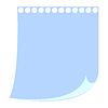 Blatt Papier von Notebook-