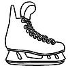 Paar Schlittschuhe für Eiskunstlauf. Symbol