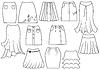 Векторный клипарт: юбки для женщин моды