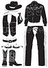 Векторный клипарт: ковбойские одежды и атрибутов