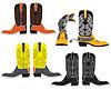 Векторный клипарт: обувь для ковбоя. Специальная одежда
