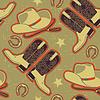 Cowboy-nahtloses Muster für background.Vintage