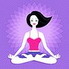 Junge Frau. Meditation