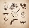 Detective Skizze icons set