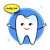 Gesundes Zahn Charakter