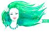 Watercolor girl.  | Stock Vector Graphics