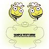 Postkarte mit zwei Bienen