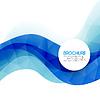 Векторный клипарт: Абстрактный красочный синий фон линии