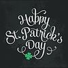 Typografische St. Patrick`s Day Grußkarte