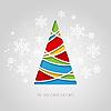 Frohe Weihnacht-Gruß-Karte. Papier-Design
