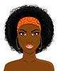 Gesicht der schönen afrikanischen schwarzen Frau