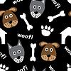 Cartoon nahtlose Muster mit Hunden