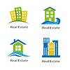 Set von Logos von Immobilien