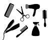 Векторный клипарт: устройства для ухода за волосами