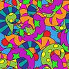 Векторный клипарт: бесшовные абстрактный фон с разноцветными спиралями