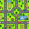 Cartoon nahtlose Muster mit hellen Straße, das Auto und