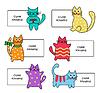 Векторный клипарт: знаки с мультяшный котята