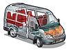Minibus ifographics Cutaway