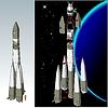Weltraumrakete Infografiken