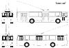 schematische Zeichnung städtischen Wagen