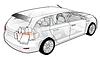 Car Infografiken Cutaway