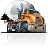 Mit einem Klick repaint Option Cartoon Mixer Truck