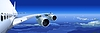 Verkehrsflugzeug im Himmel