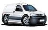 Векторный клипарт: мультяшный доставки ван