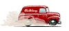 Векторный клипарт: Мультяшный ретро фургон
