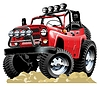 Векторный клипарт: Мультяшный Jeep