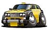 Векторный клипарт: Мультяшное такси