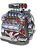 Векторный клипарт: Мультяшный Turbo Engine