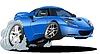 Векторный клипарт: Мультяшный спортивный автомобиль