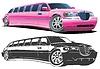 Векторный клипарт: Мультяшный лимузине