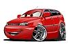 Векторный клипарт: Мультяшный автомобилей
