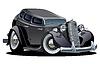 Векторный клипарт: Мультяшный ретро-автомобилей