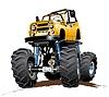 Векторный клипарт: Мультяшный Monster Truck один клик перекрасить